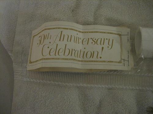 Large 50th Golden Wedding Anniversary Banner