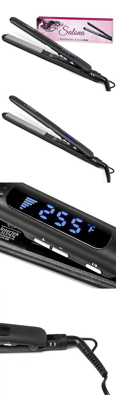 Straightening and Curling Irons: Salona Professional Titanium Flat Iron Hair Straightener, Worldwide Dual Voltage -> BUY IT NOW ONLY: $35.49 on eBay!