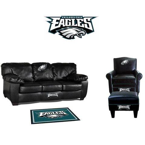 Charming Philadelphia Eagles Leather Furniture Set