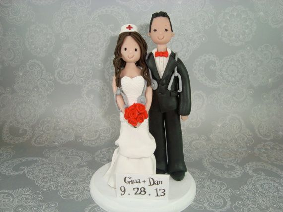 nurse wedding cake toppers personalized doctor amp wedding cake topper by 17951