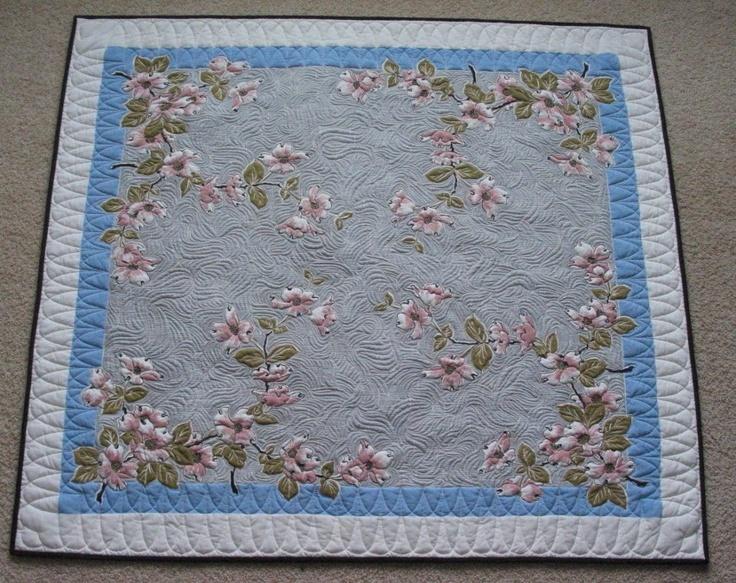 Vintage Table Cloth Quilt. What A Fun Idea!