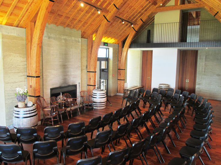 The Rippon Hall set theater-style for a corporate event