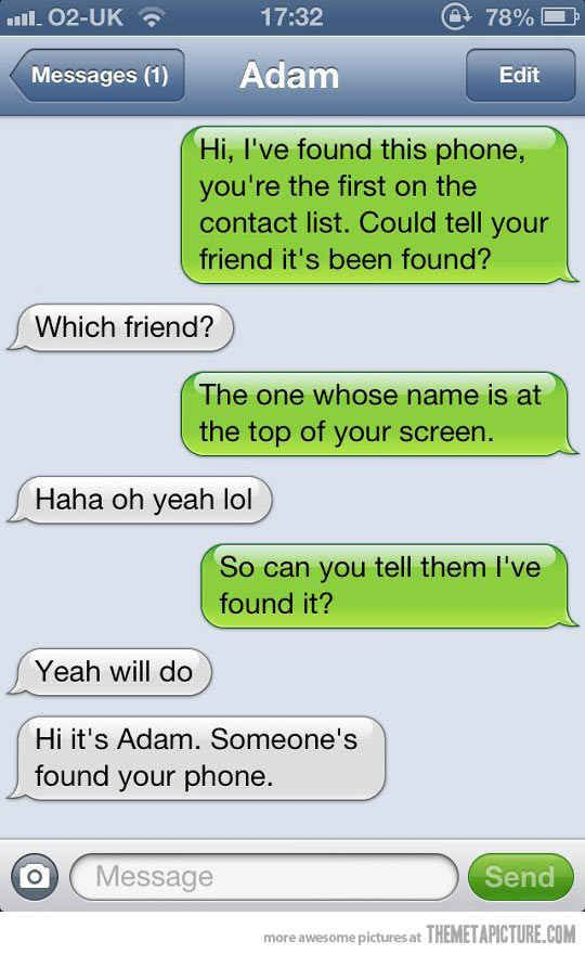 Adam. | 27 People Who Just Lost Their Texting Privileges