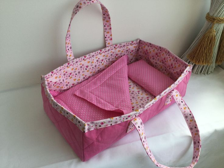 2017-5 Doll Carry Cot made for Millie - Made by Jan