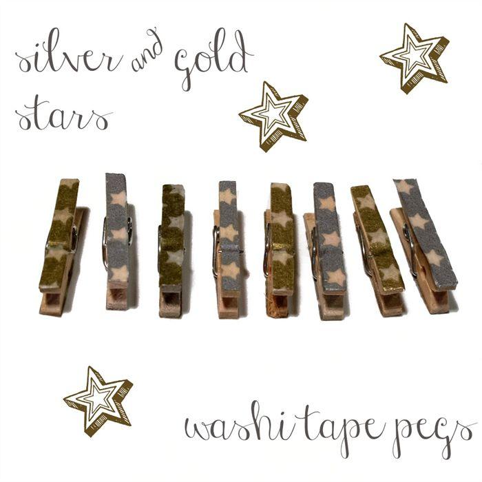 Clothesline Kit. Silver, Gold and White. Stars. | kaetoo | madeit.com.au #shopmadeit #hc4kids #handmade #shophandmade #buyhandmade #shopping