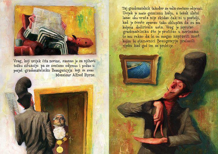 """Tomislav Torjanac illustration for """"The Cat and the Devil""""."""