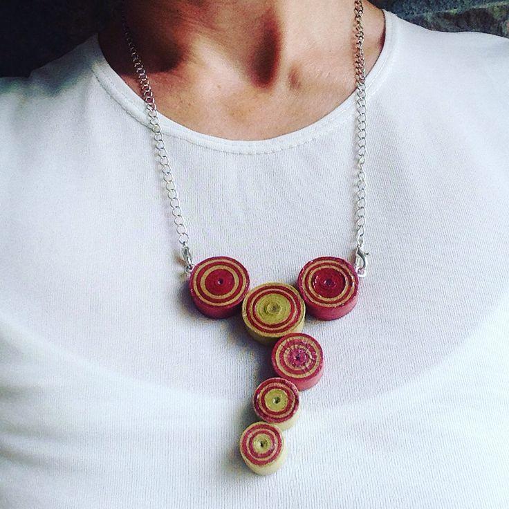 #ninfa PEMA Creations #jewelryecorecycled #stellafilante collier#handmade #jewelery #paper