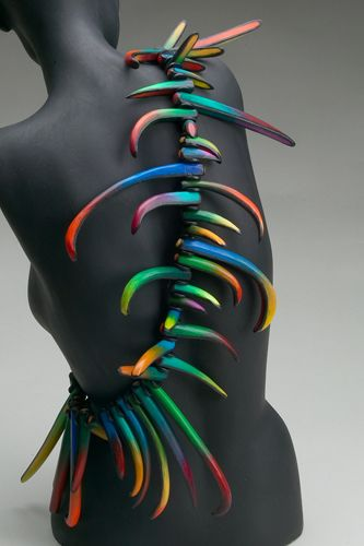 Art Jewelry, Marjorie Schick, Artist  (i don't know if is polymer clay but it's sooo inspiring!)