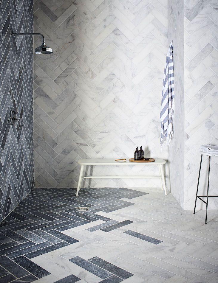 Calacatta Tumbled Marble Tiles & Stone | Mandarin Stone Tiles & Flooring