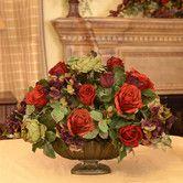 Found it at Wayfair - Garnet Silk Flower Centerpiece with Rose, Hydrangea and Berry