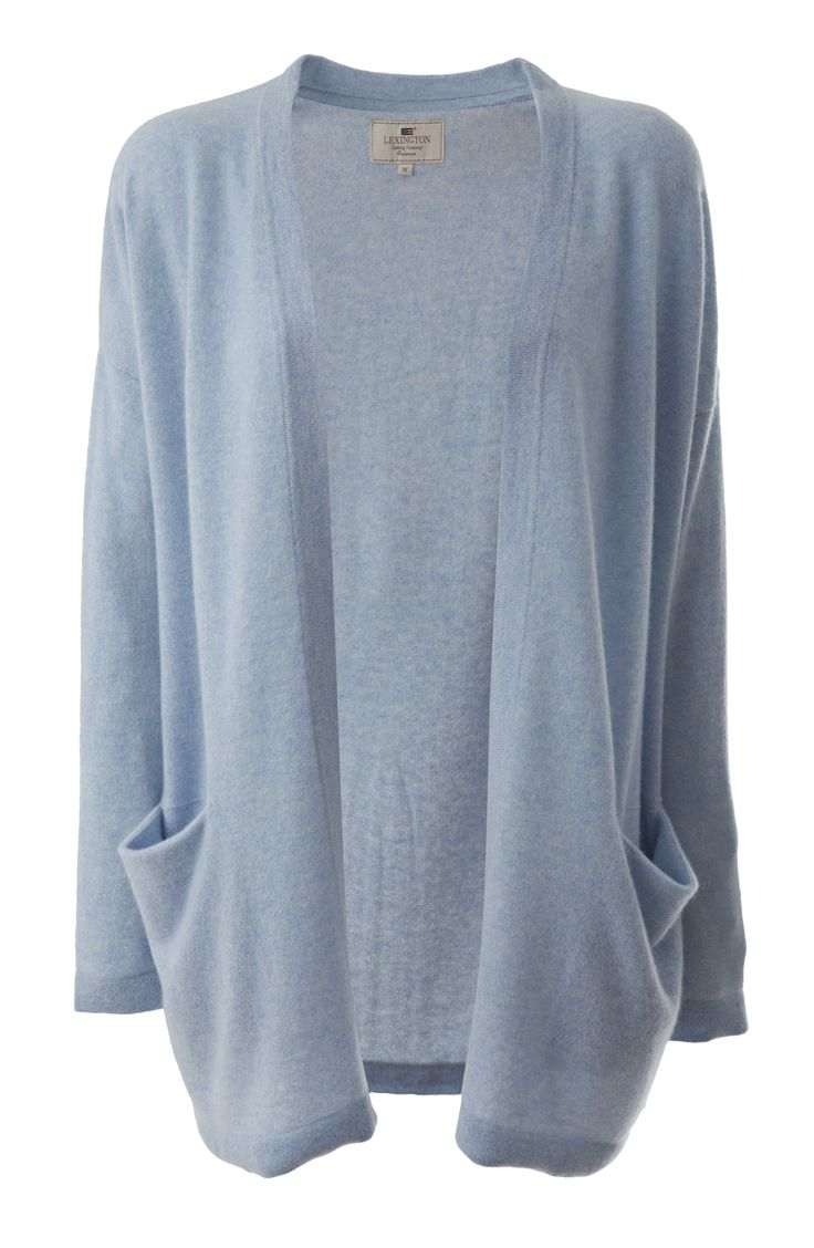 Cashmere Gwen Cardigan Light Blue Melange http://www.lexingtoncompany.com/women/new_arrivals/cozy_cashmere/gwen-cardigan-light_-blue_-melange