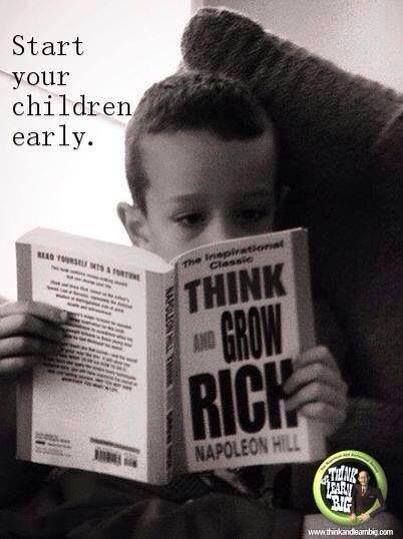 THINK and GROW RICH by Napoleon Hill http://www.amazon.com/Think-Grow-Rich-Landmark-Bestseller/dp/1585424331
