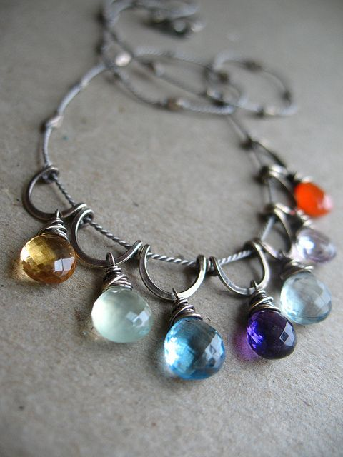 This is awesome because of it's simplicity and ability to be unique at the same time. The use of color is great. I really am starting to fall in love with briolettes the more I seem them used in finished pieces. Something I definitely look forward to adding to my collection of beads in the future.