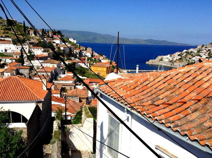 Property for sale in Hydra Town, Hydra, Greece. An attractive house with two bedrooms and a private terrace with sea views.