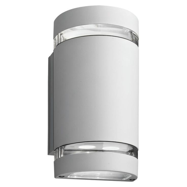 Lithonia Lighting Ollwu WH M6 Outdoor Up and Down LED 2-light Wall Cylinder