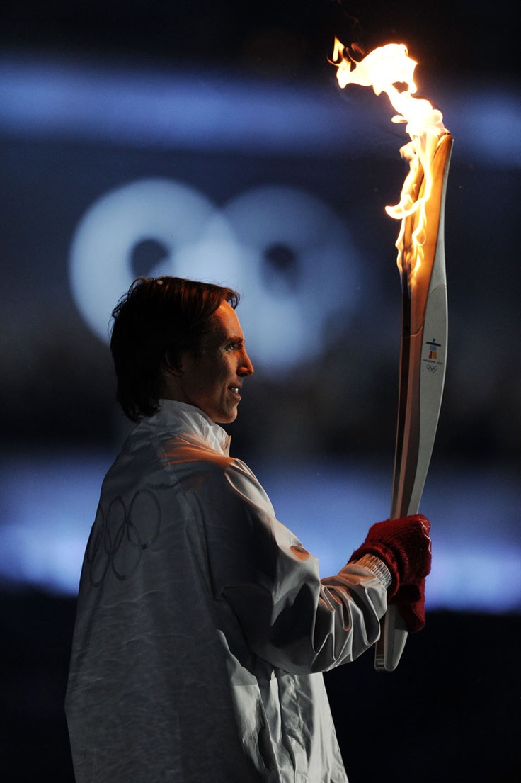 Steve Nash at torch lighting Vancouver Olympics