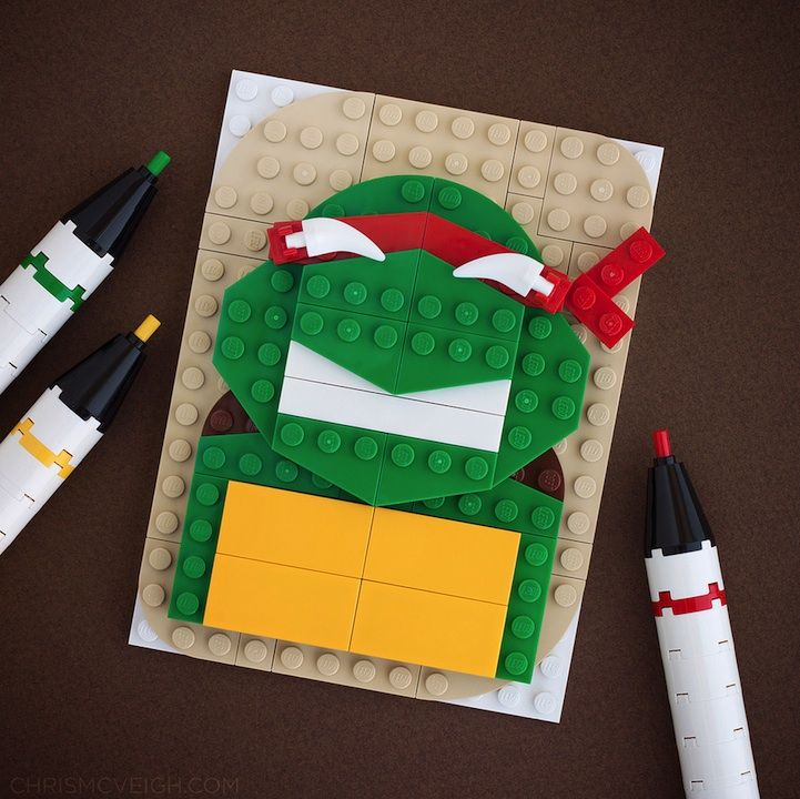 NINJA TURTLE!   LEGO Pop-Culture Portraits by Chris McVeigh