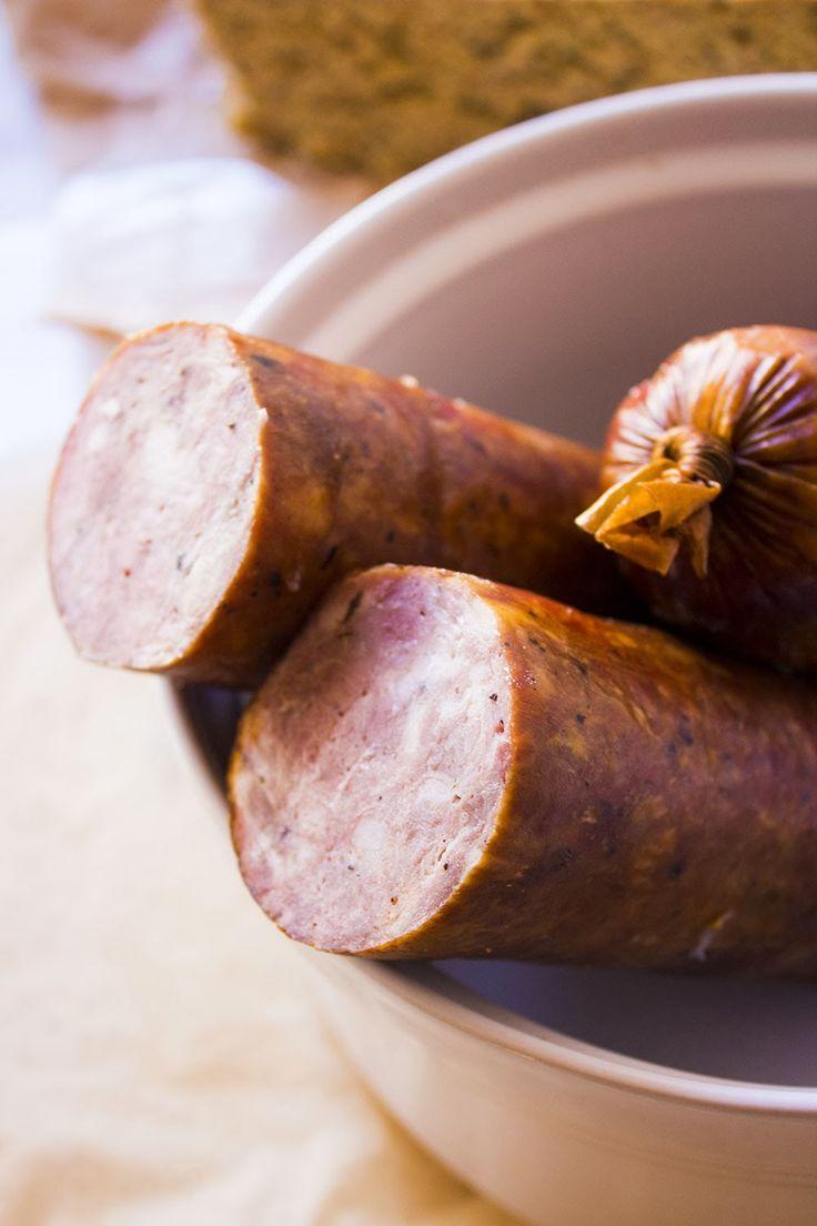 Cracovia salchicha - Ham - Salchicha de jamón simil cracovia
