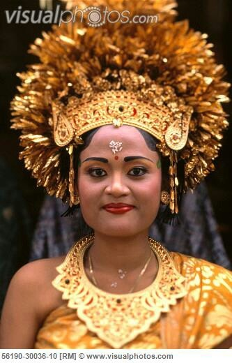 Indonesia traditional wedding dress from Bali
