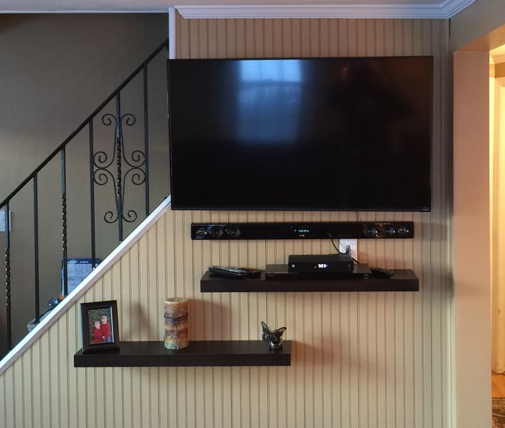 This Is The After Larger Tv Floating Shelves Sound Bar