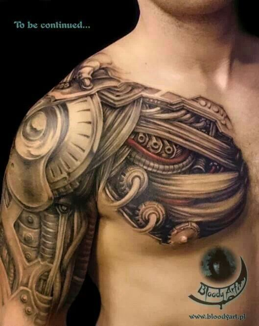 Tattooed Man - Biomechanical Tattoo