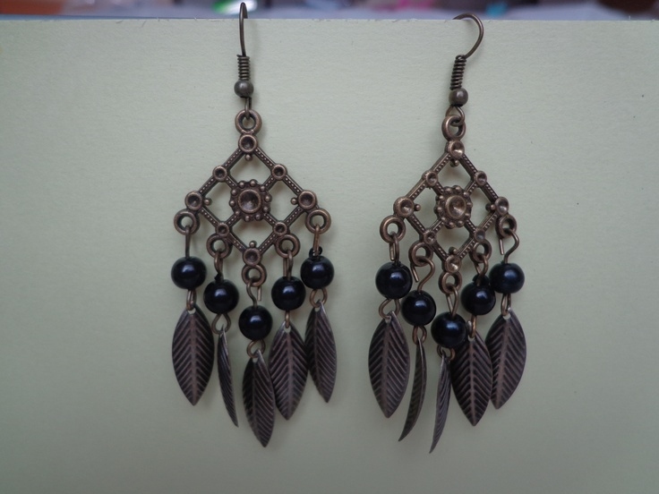 steel/metal dangling earrings, mix shapes and colors