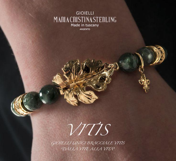 Made in Tuscany gioielli moda bracciale vite argento e pietre naturali designed Alessandro Magrino, Maria cristina Sterling Italy