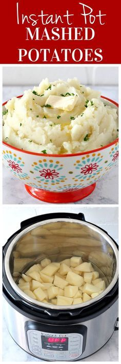 Instant Pot Mashed Potatoes Recipe - the fastest way to make mashed potatoes by cooking them in a electric pressure cooker. These potatoes are light and fluffy and delicious!
