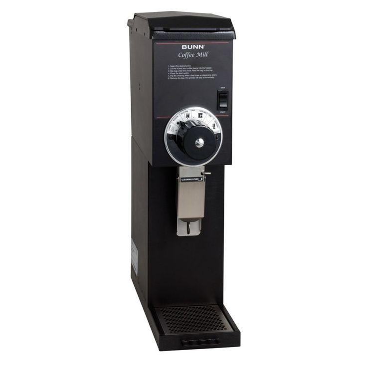 BUNN 22100 Bulk Commercial Coffee Grinder, 3 lb, Black
