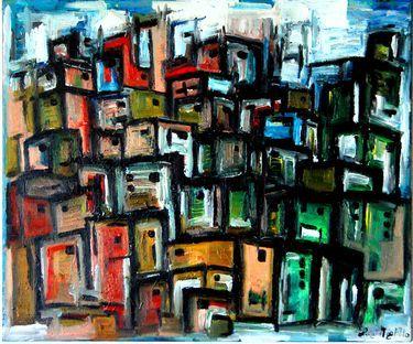 """Saatchi Art Artist Luigi Magliulo; Painting, """"Favelas"""" #art"""