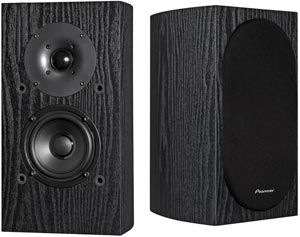 Pioneer SP-BS22-LR Andrew Jones Designed Bookshelf Loudspeakers. Rated 4.7/5 stars and supposedly is so good you don't need a subwoofer. $130