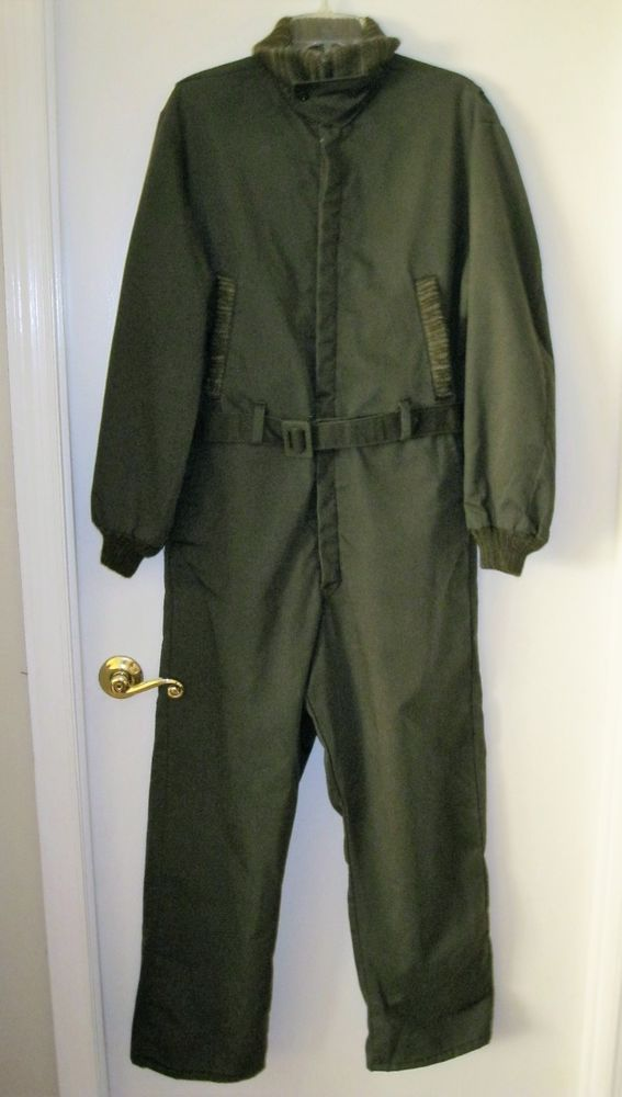 Vtg Walls Blizzard Pruf Coveralls Knit Collar Cuff Sz M 38-40 Reg One Piece Suit #Walls #Coveralls