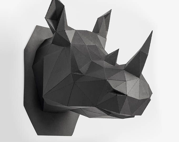 Rhino Head, Animal Head, Rhinoceros Head ,Rhino mask