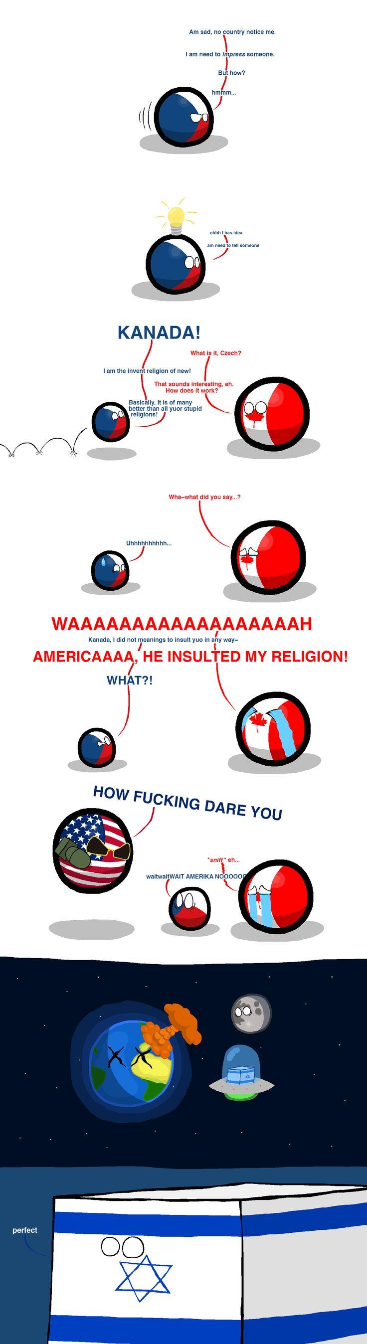 Behind religions | Polandballs Countryballs