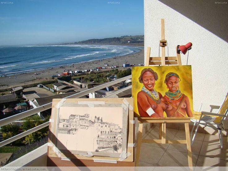 Un lugar para pintar. Concon serca de Viña del Mar
