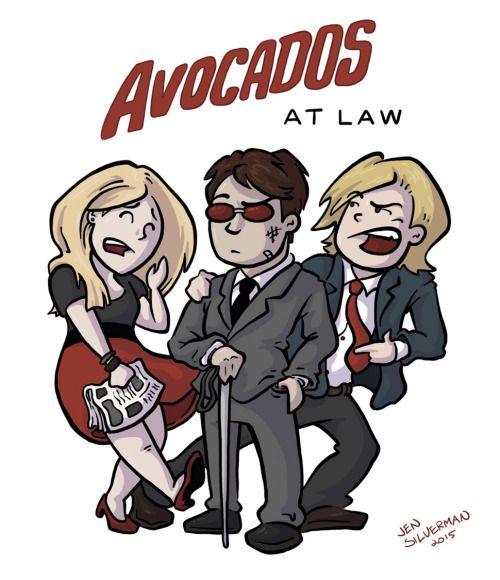 Daredevil fan art... avocados