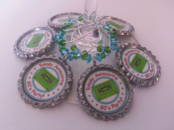 Personalized Wine Charms, Wine Theme Party, Logo Wine Charms, $1.95 each