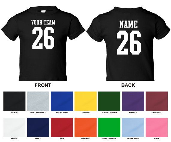 "I finally found a place that makes toddler/infant sized ""football style"" shirts. It's as close to a jersey that I have found!! Yay!!  Personalized custom your team name number by TheAllStopShop"