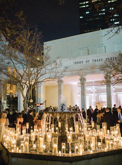 candlelit courtyard | Trent Bailey #wedding