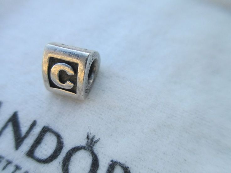 authentic retired pandora letter c initial charm