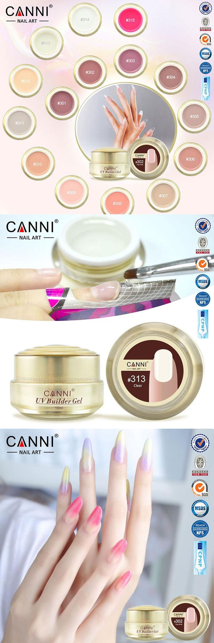 [Visit to Buy] Gel Nail Polish Bling Canni Professional Nails UV Led Builder Clear Color Ongle Unhas De Gel 2016 French Art Soak Off Nagel 15ml #Advertisement