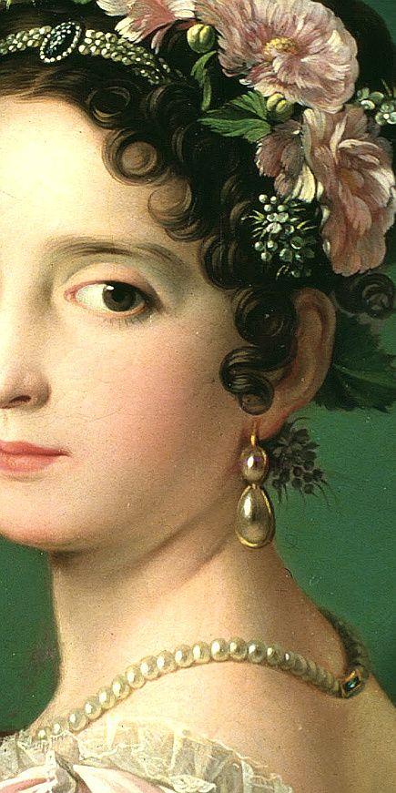 Manuela Gonzlez Velzquez, playing the piano 1820, detail. Zacarias Gonzalez Velazquez (1763 - 1834) Women's Jewelry - http://amzn.to/2j8unq8