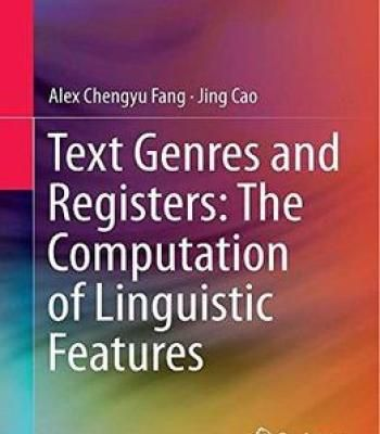 Text Genres And Registers: The Computation Of Linguistic Features PDF