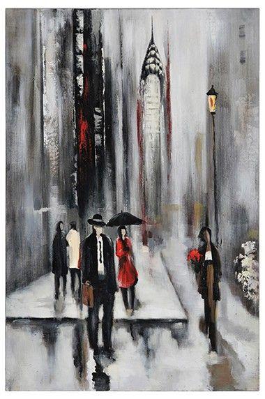 Les 25 meilleures id es de la cat gorie parapluie rouge for Tableau noir et blanc avec touche de couleur