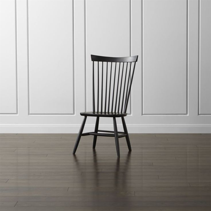 Marlow II Black Wood Dining Chair | Crate and Barrel