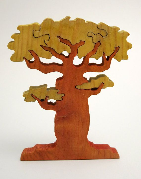 Escandinavian Tree of Wishes - Good Luck Gift - Wooden Home Decor Puzzle - Baobab #teampinterest