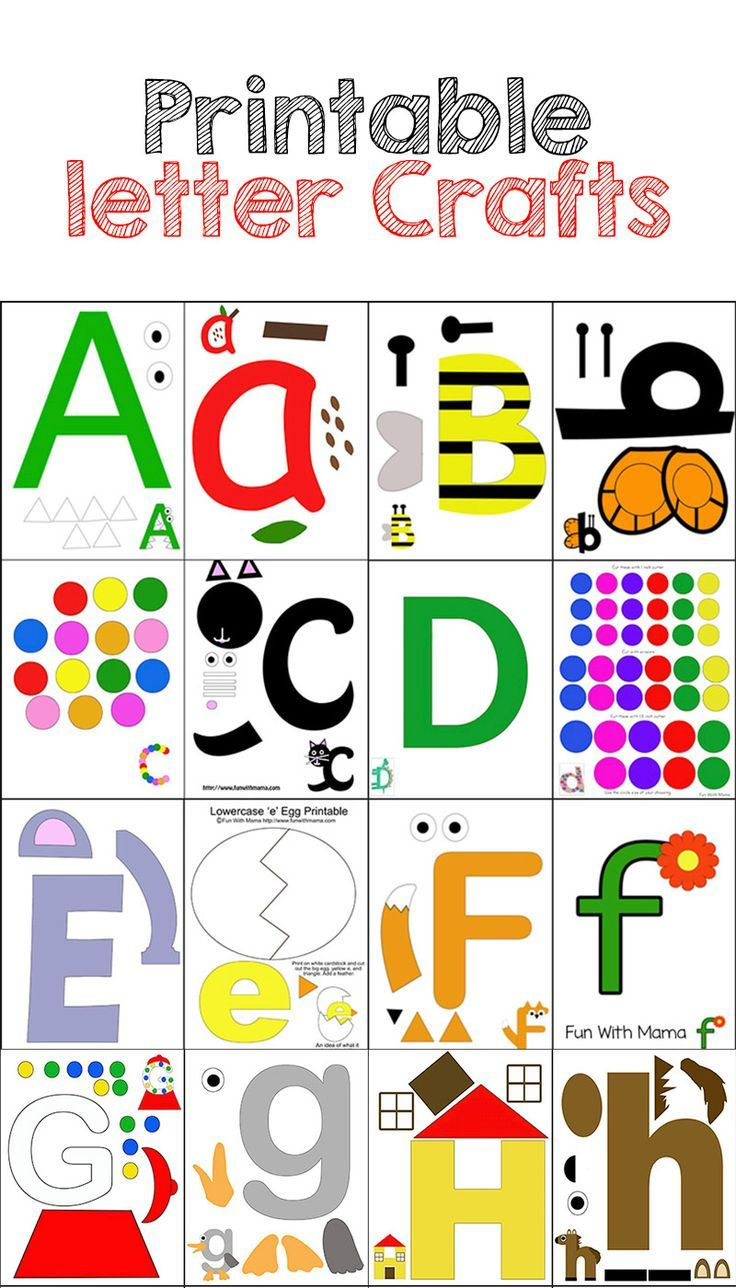 printable alphabet letter crafts pack 1 - Kids Activity Printables