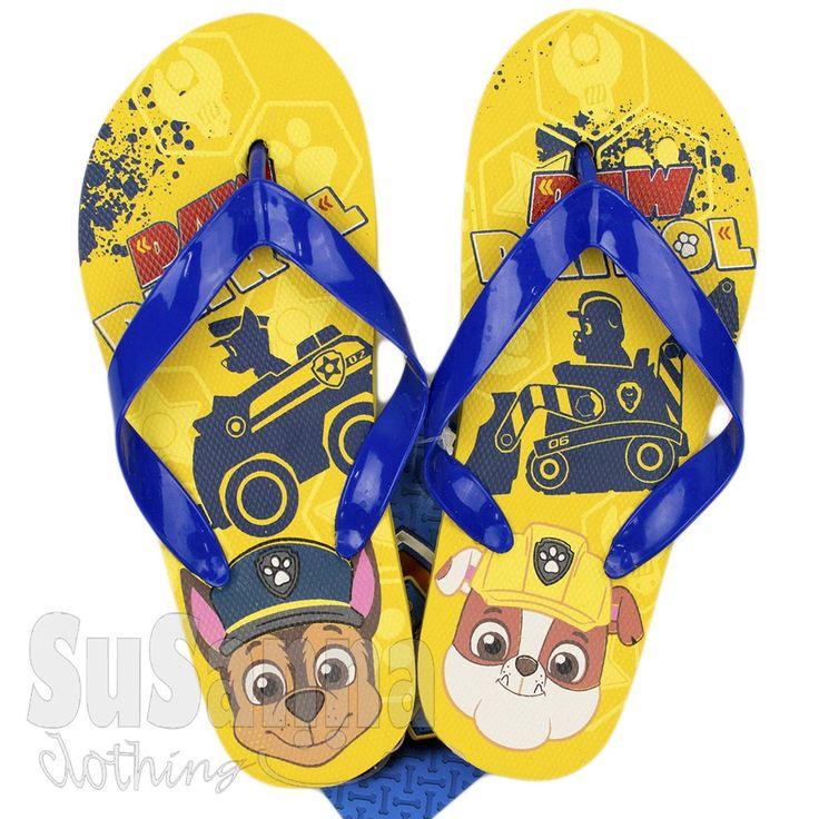 Paw Patrol Boys Flip Flops, Beach Shoes NEW 2016 YELLOW