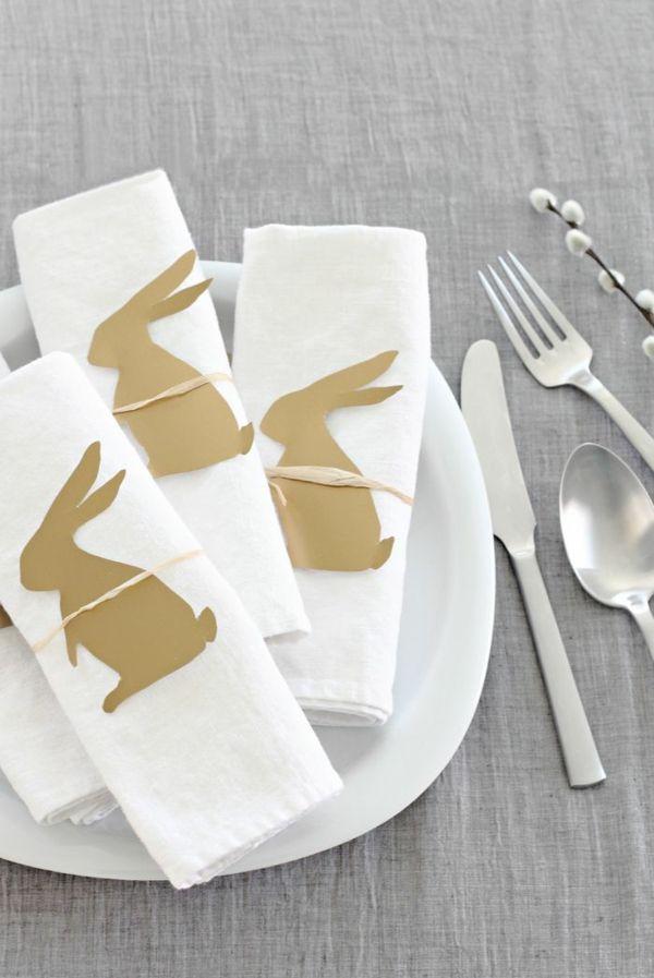 Uberlegen Festliche Tischdeko Zu Ostern Servietten Falten