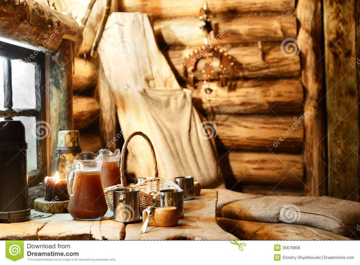 Interior Of Russian Wooden Sauna Royalty Free Stock Image - Image: 35679806